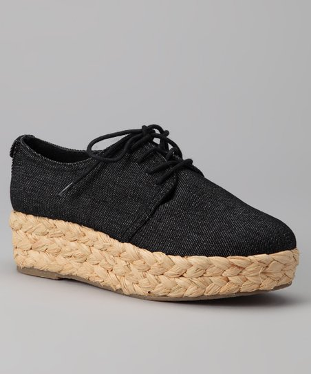 Black Denim Keri Platform Shoe