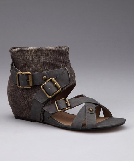 Dark Gray Lynn Sandal