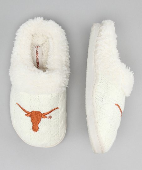 Campus Footnotes Cream Texas Slipper - Kids