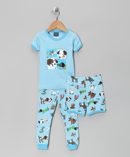 Blue Dog Pajama Set - Infant & Toddler