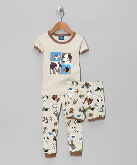 Tan Dog Pajama Set - Infant & Toddler