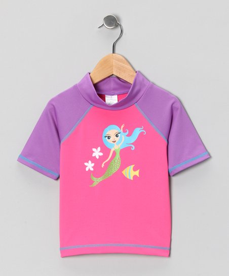 Pink & Purple Mermaid Rashguard - Toddler