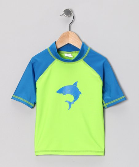 Lime Shark Rashguard - Toddler & Boys