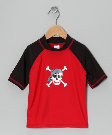 Red Pirate Rashguard - Toddler & Boys