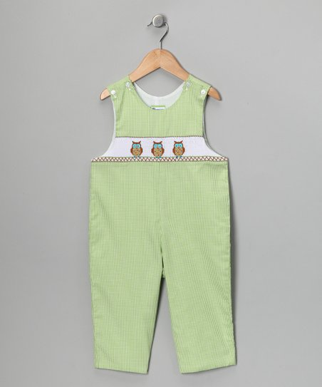 Green Owl Overalls - Infant
