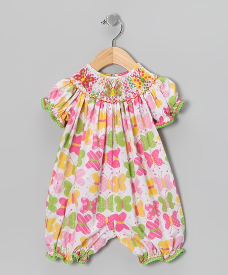 Candyland Pink Butterfly Bubble Romper - Infant