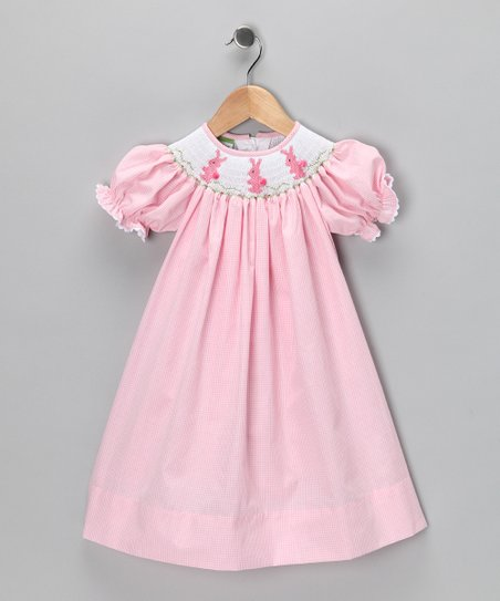 Pink Bunny Bishop Dress - Toddler