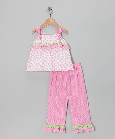 Pink Polka Dot Top &amp; Capri Pants - Infant, Toddler &amp; Girls