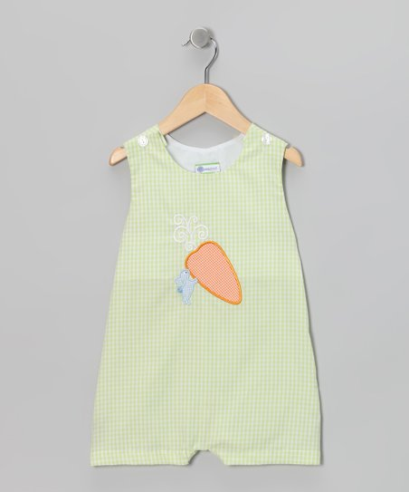 Green Carrot Shortalls - Infant