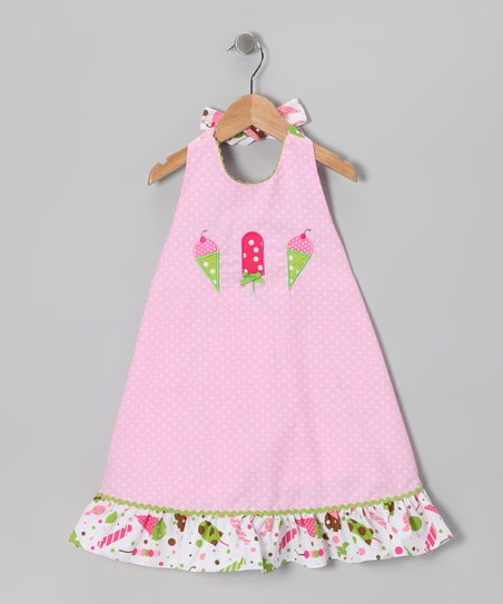 Pink Ice Cream A-Line Dress - Infant