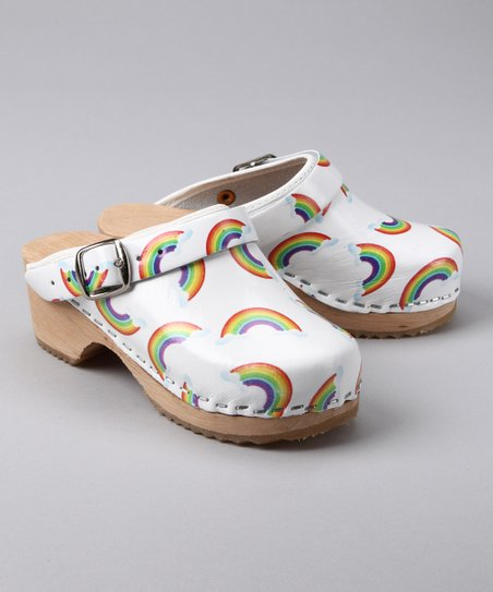 White Rainbow Clog - Kids
