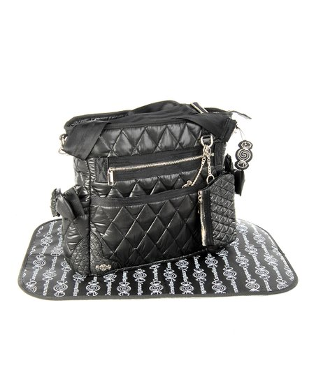 Caramellles Black The Truffle Bow Diaper Bag