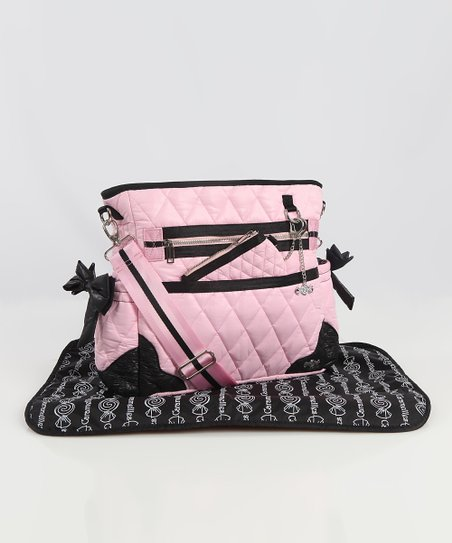 Caramellles Baby Pink The Truffle Bow Diaper Bag