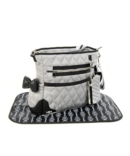 Gray The Truffle Bow Diaper Bag