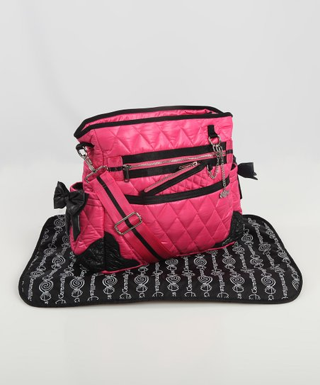 Hot Pink The Truffle Bow Diaper Bag