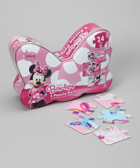 Minnie Mouse Puzzle Tin Set