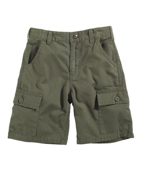 Green Ripstop Cargo Shorts - Boys