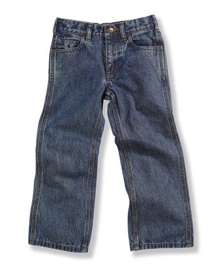 Vintage Wash Five-Pocket Relaxed-Fit Jeans - Boys