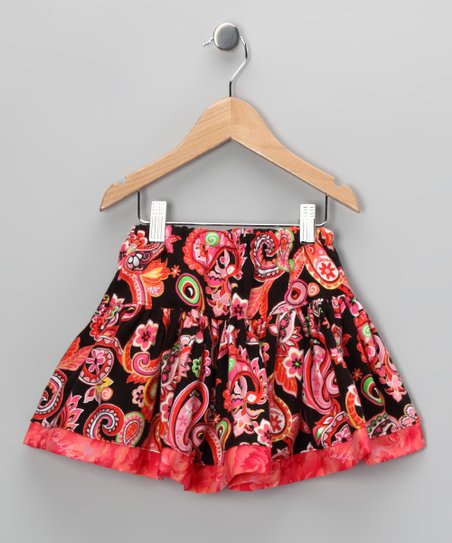 Coral Paisley Skirt - Infant, Toddler & Girls