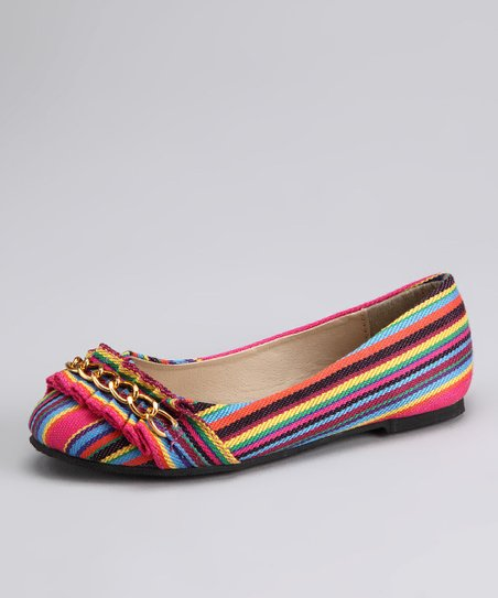 Carrini Fuchsia Stripe Flat