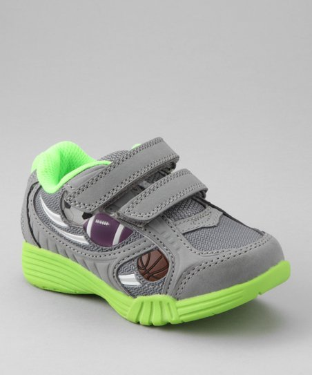 Gray & Lime Light-Up Campeon Sneaker