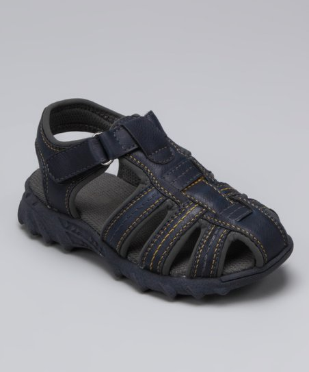 Navy Melo Closed-Toe Sandal