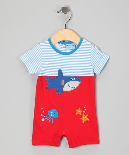 Red Shark Romper