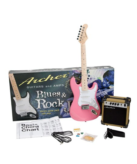 Pink Archer SS10 Blues & Rock Jr. Electric Guitar Set