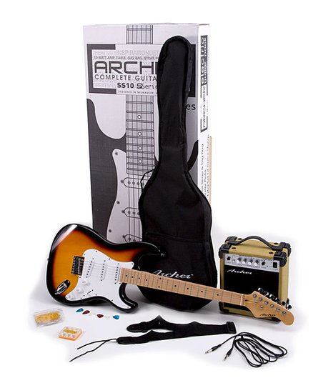 Archer Sunburst SS10 Electric Guitar Set