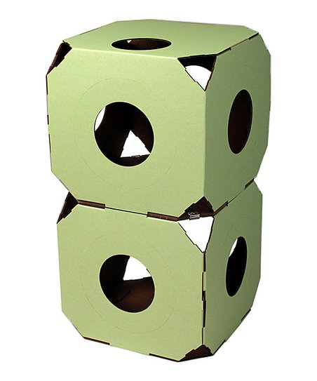 Catty Stacks Pale Green Cat Condo - Set of Two