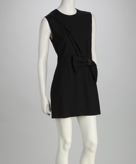 Black Wool Bow Tunic