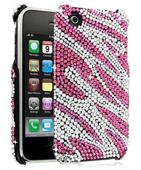 Pink DeBari Zebra Case for iPhone 3G/3GS