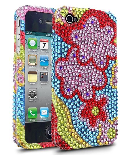 Blue Flower DMD Case for iPhone 4/4S