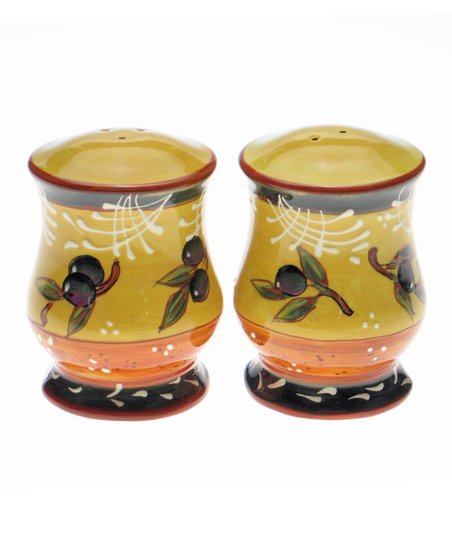 Olive Salt &amp; Pepper Shaker Set