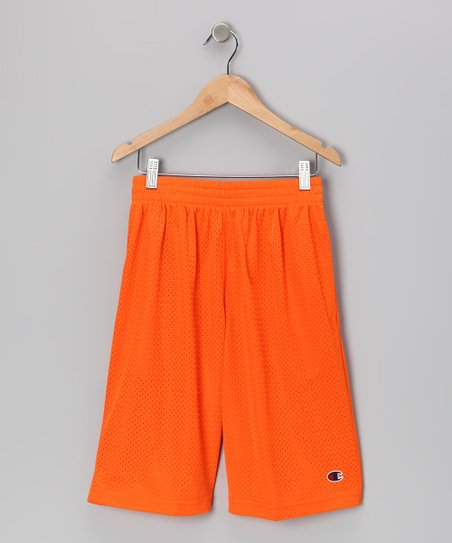 Orange Heritage Mesh Shorts