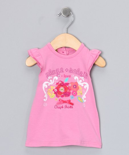 Bubblegum Angel-Sleeve Tee - Infant & Toddler