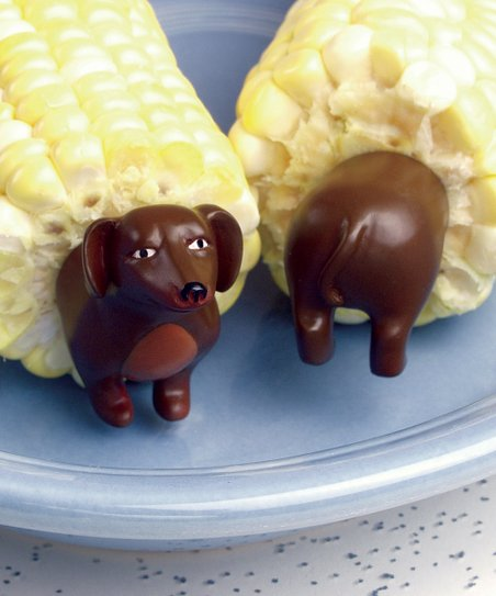 Dog Corn Holder - Set of Eight