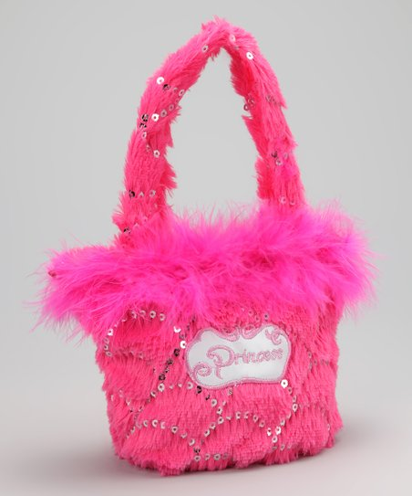 Charla's Place Hot Pink Feather 'Princess' Handbag