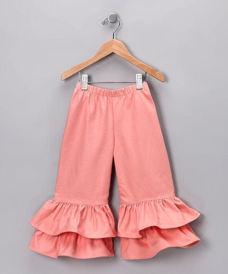 Coral Double Ruffle Pants - Infant, Toddler & Girls