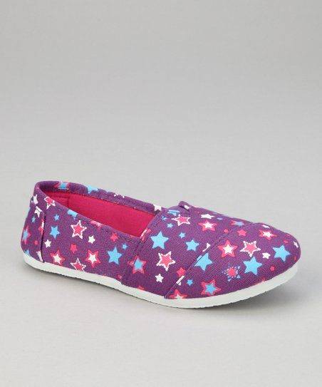 Purple Star Slip-On Shoe