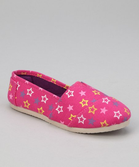 Pink Star Slip-On Shoe