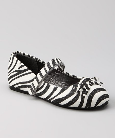 Black & White Zebra Mary Jane