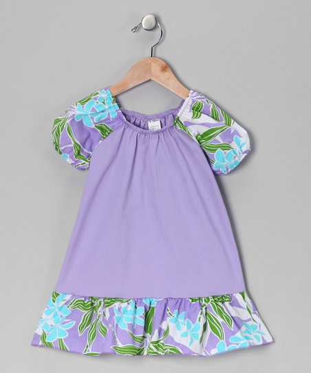 Lavender Floral Swing Dress - Toddler & Girls