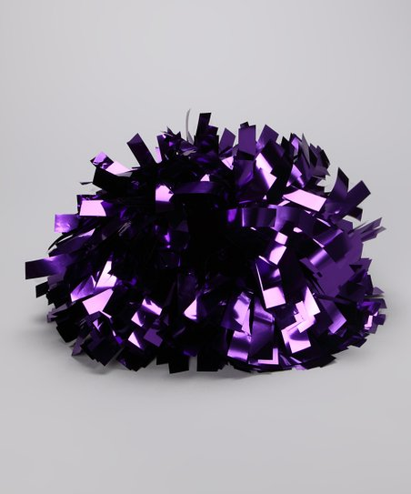 Purple Metallic Pom-Pom