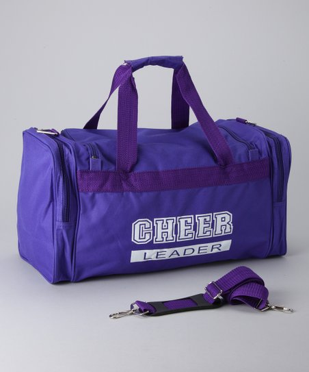 Purple & White 'Cheerleader' Duffel Bag