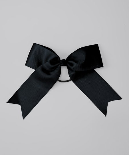Black Bow Hair Tie