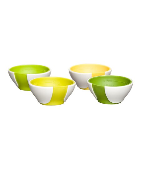Chef'n Green Tonal SleekStor Pinch & Pour Mini Prep Bowl Set