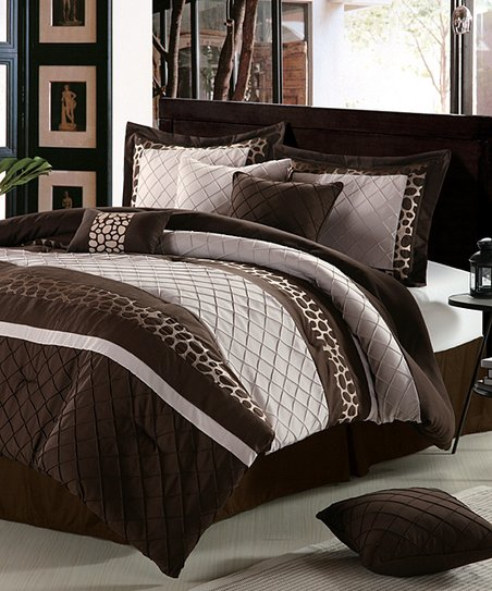 Brown & Beige Savannah Comforter Set