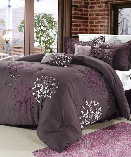 Purple Chiela Comforter Set