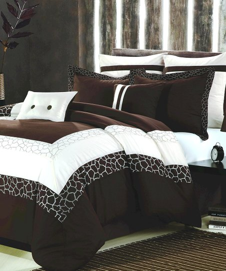 Beige & Brown Safari Comforter Set